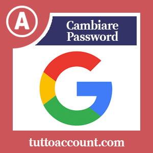 Cambiare password google