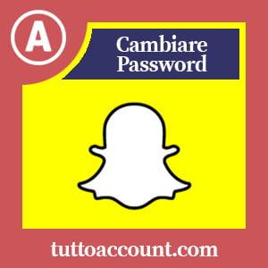 Cambiare password snapchat
