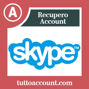 Recupero account skype