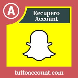 Recupero account snapchat
