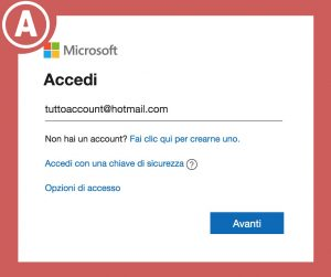 cambiare password Hotmail