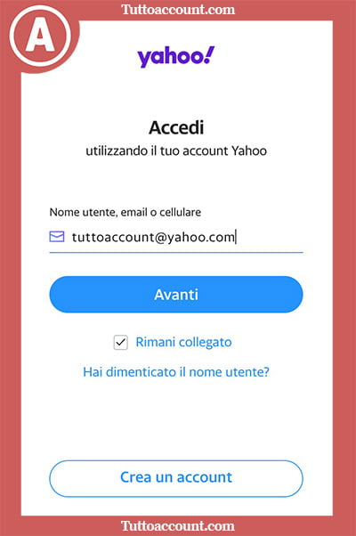 Cambiare password Yahoo