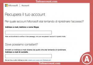recupero password hotmail